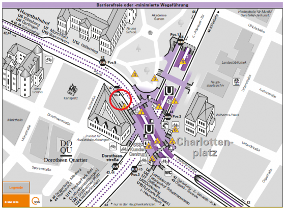 Kartenausschnitt Charlottenplatz